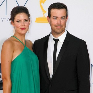 Siri Pinter, Carson Daly in 64th Annual Primetime Emmy Awards - Arrivals