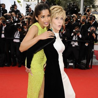Freida Pinto, Jane Fonda in Rust and Bone Premiere - During The 65th Annual Cannes Film Festival