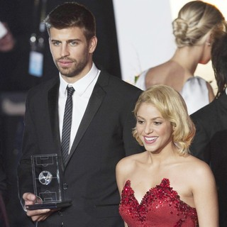 Gerard Pique, Shakira in The FIFA Ballon d'Or Gala