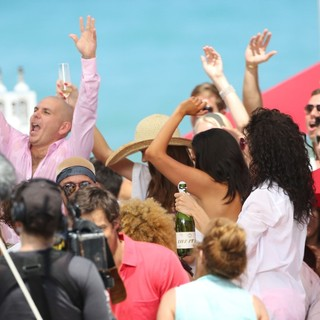 Pitbull in Jennifer Lopez Filming A TV Commercial - pitbull-filming-02