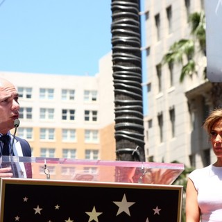 Pitbull, Jennifer Lopez in Jennifer Lopez Is Honoured with The 2,500th Star on The Hollywood Walk of Fame