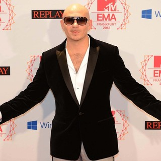 Pitbull in The MTV EMA's 2012 - Press Room