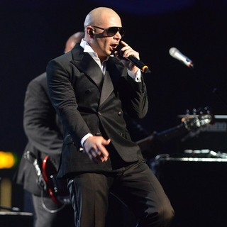 Pitbull in The MTV EMA's 2012 - Show