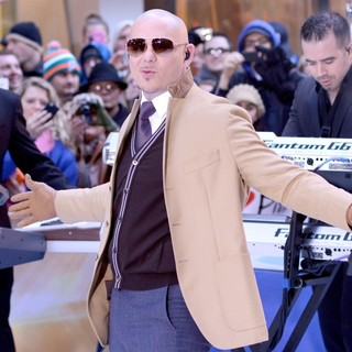 Pitbull in Pitbull Performs Live at The Today Show