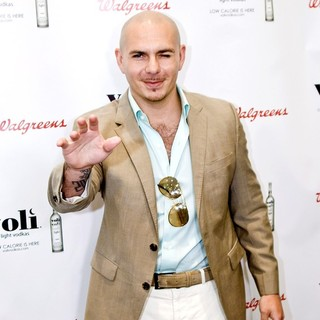 Pitbull in Pitbull Promotes Voli Light Vodka