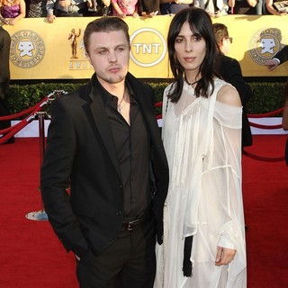 Michael Pitt, Jamie Bochert in The 18th Annual Screen Actors Guild Awards - Arrivals