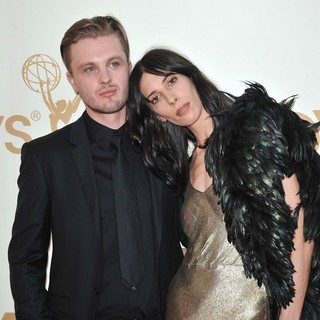 Michael Pitt, Jamie Bochert in The 63rd Primetime Emmy Awards - Arrivals