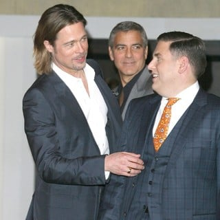 Brad Pitt, George Clooney, Jonah Hill in 84th Annual Academy Awards Nominees Luncheon