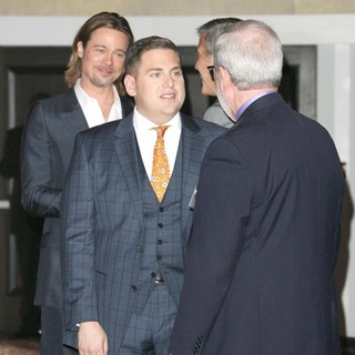 Brad Pitt, Jonah Hill, George Clooney in 84th Annual Academy Awards Nominees Luncheon