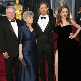 William Alvin Pitt, Jane Pitt, Brad Pitt, Angelina Jolie in 84th Annual Academy Awards - Arrivals