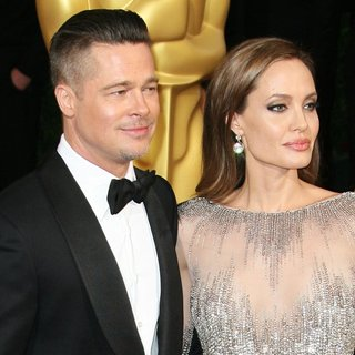 Brad Pitt, Angelina Jolie in The 86th Annual Oscars - Red Carpet Arrivals