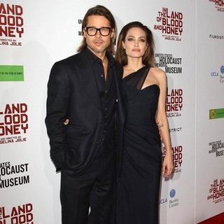 Brad Pitt, Angelina Jolie in The Premiere of In the Land of Blood and Honey