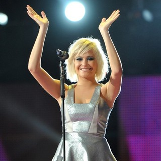Pixie Lott in Michael Jackson Tribute Concert Held at The Cardiff Millenium Stadium