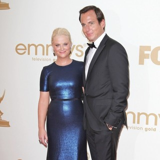 Amy Poehler, Will Arnett in The 63rd Primetime Emmy Awards - Arrivals