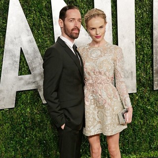Michael Polish, Kate Bosworth in 2013 Vanity Fair Oscar Party - Arrivals