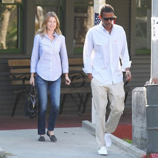 Ellen Pompeo, Chris Ivery in Ellen Pompeo and Chris Ivery Are Seen Leaving A Voting Polling Station on Election Day