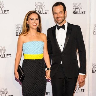 Natalie Portman, Benjamin Millepied in New York City Ballet 2013 Fall Gala