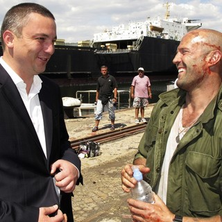 Ivan Portnih, Jason Statham in The Expendables 3 Film Set