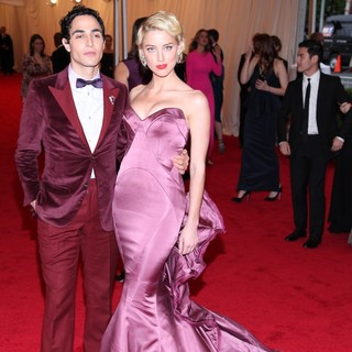 Zac Posen, Amber Heard in Schiaparelli and Prada Impossible Conversations Costume Institute Gala