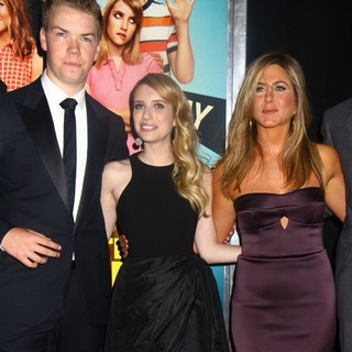 Will Poulter, Emma Roberts, Jennifer Aniston in We're the Millers World Premiere