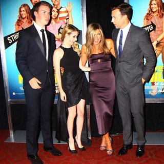 Will Poulter, Emma Roberts, Jennifer Aniston, Jason Sudeikis in We're the Millers World Premiere
