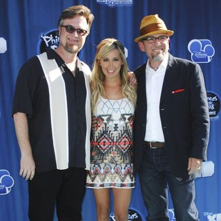 Dan Povenmire, Ashley Tisdale, Jeff 'Swampy' Marsh in Hollywood Premiere of The Disney Channel Original Movie Phineas and Ferb Across the Second Dimension