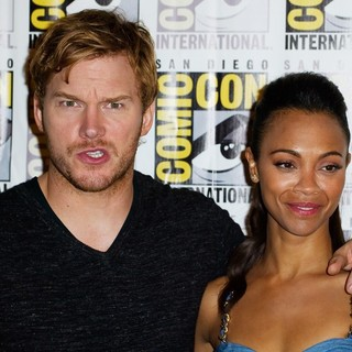 Chris Pratt, Zoe Saldana in Comic-Con International 2013 - Marvel - Photocall