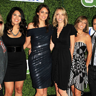 Mikey Kauffman, Raquel Castaneda, Nikki Weis, Jill Goldstein in 2010 CBS, CW, Showtime Summer Press Tour Party