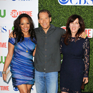 Lauren Velez, James Remar in 2010 CBS, CW, Showtime Summer Press Tour Party