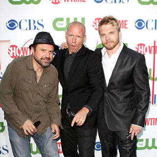 Enrico Colantoni, Hugh Dillon, David Paetkau in 2010 CBS, CW, Showtime Summer Press Tour Party