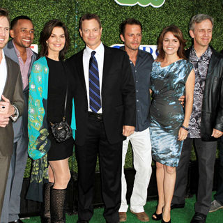 A.J. Buckley, Hill Harper, Sela Ward, Gary Sinise, Carmine Giovinazzo, Anna Belknap, Robert Joy, Eddie Cahill in 2010 CBS, CW, Showtime Summer Press Tour Party