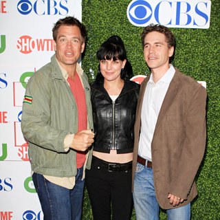 Michael Weatherly, Pauley Perrette, Brian Dietzen in 2010 CBS, CW, Showtime Summer Press Tour Party