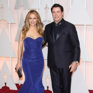 Kelly Preston, John Travolta in The 87th Annual Oscars - Red Carpet Arrivals