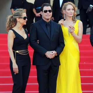 Kelly Preston, John Travolta, Uma Thurman in The 67th Annual Cannes Film Festival - Clouds of Sils Maria - Premiere Arrivals