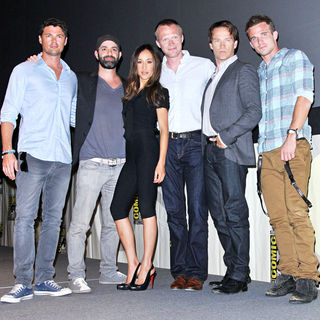 Karl Urban, Scott Charles Stewart, Maggie Q, Paul Bettany, Stephen Moyer, Cam Gigandet in Comic Con 2010 - Day 2 - 'Priest' Press Conference