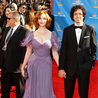Christina Hendricks, Geoffrey Arend in The 62nd Annual Primetime Emmy Awards