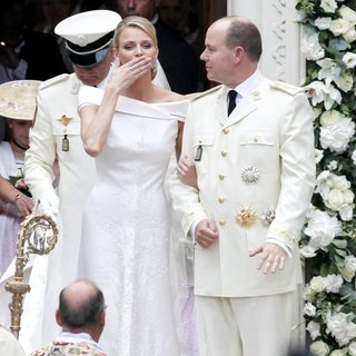 Charlene Wittstock, Prince Albert in Religious Ceremony of The Royal Wedding of Prince Albert II of Monaco to Charlene Wittstock
