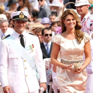 Prince Carl Philip, Princess Madeleine in Religious Ceremony of The Royal Wedding of Prince Albert II of Monaco to Charlene Wittstock