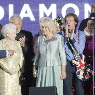 Cheryl Cole, Prince Charles, Queen Elizabeth II, Camilla Parker Bowles, Paul McCartney, Elton John, Kylie Minogue in The Diamond Jubilee Concert