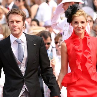 Prince Emanuele Filiberto, Clotilde Courau in Religious Ceremony of The Royal Wedding of Prince Albert II of Monaco to Charlene Wittstock