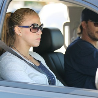 Kevin Federline and Victoria Prince Leaving The Softball Park - prince-federline-leaving-the-softball-park-01