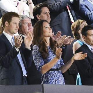 Prince Harry, Kate Middleton, Sebastian Coe in London 2012 Olympic Games - Closing Ceremony