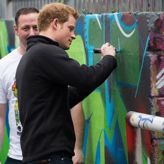 Prince Harry Visits The Russell Youth Club