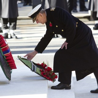 Prince Philip in Sunday Commemorating Sacrifices of The Armed Forces