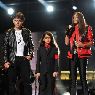 Prince Jackson, Prince Michael II, Paris Jackson in Michael Jackson Tribute Concert Held at The Cardiff Millenium Stadium