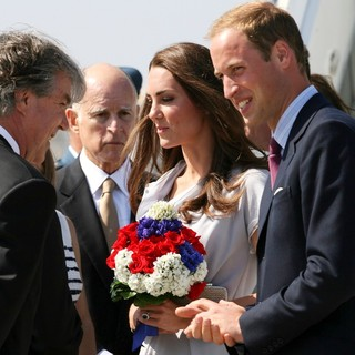 Kate Middleton, Prince William in Prince William and Kate Middleton Arrive at LAX International Airport