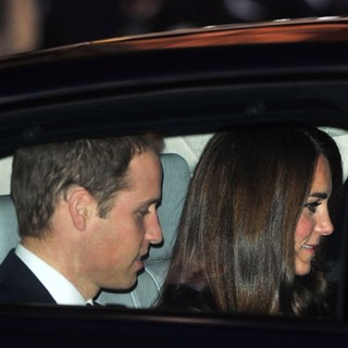 Prince William, Kate Middleton in Gary Barlow in Concert Raising Funds for The Prince's Trust - Arrivals