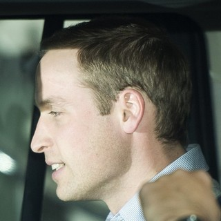 Prince William in Prince William Leaves The King Edward VII Hospital in Central London