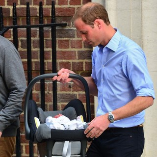 Prince William in Prince William and Kate Middleton Left Hospital with Their New Bundle of Joy