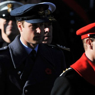 Prince William, Prince Edward in Sunday Commemorating Sacrifices of The Armed Forces